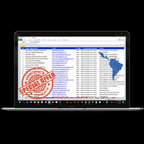 Base de Datos Directorio Agentes de Bienes Raíces America Latina - 2018